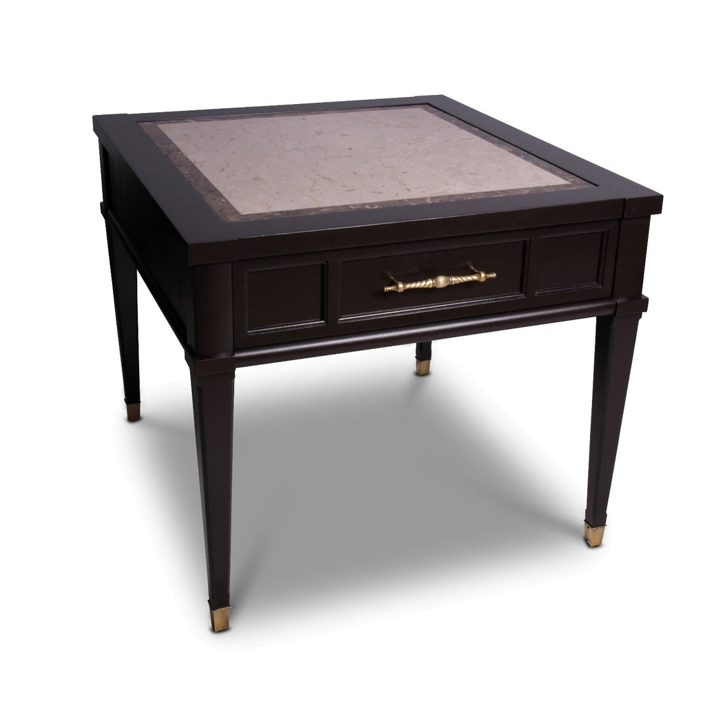Hekman End Table with Faux Marble Inlay