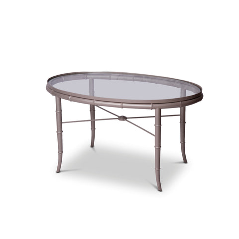 Faux Bamboo Brass Cocktail Table