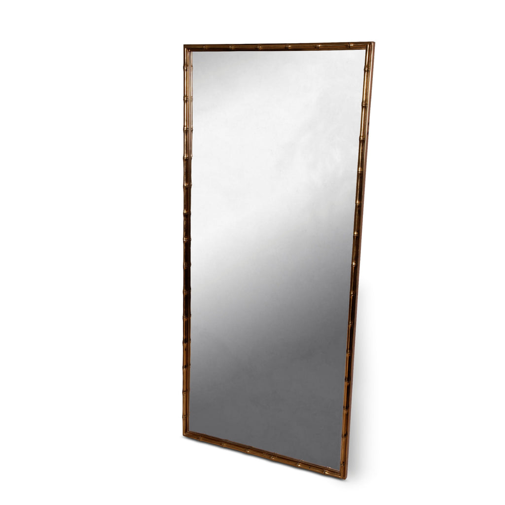 Faux Bamboo Gold Mirror