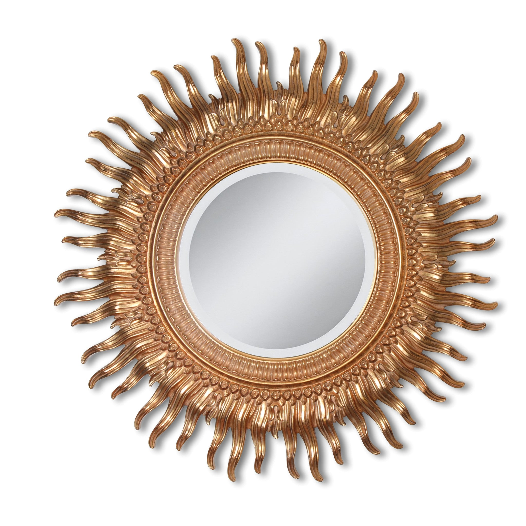 golden sun mirror, large (2 available)