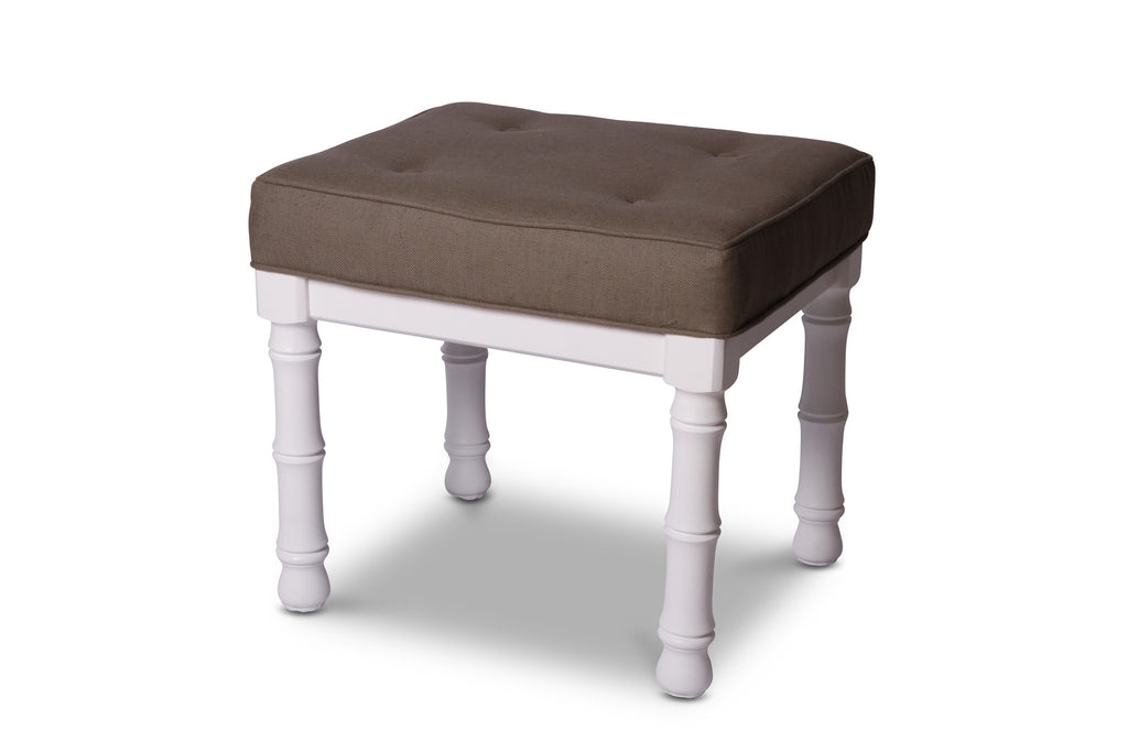 Faux Bamboo Upholstered Benches, 2 available