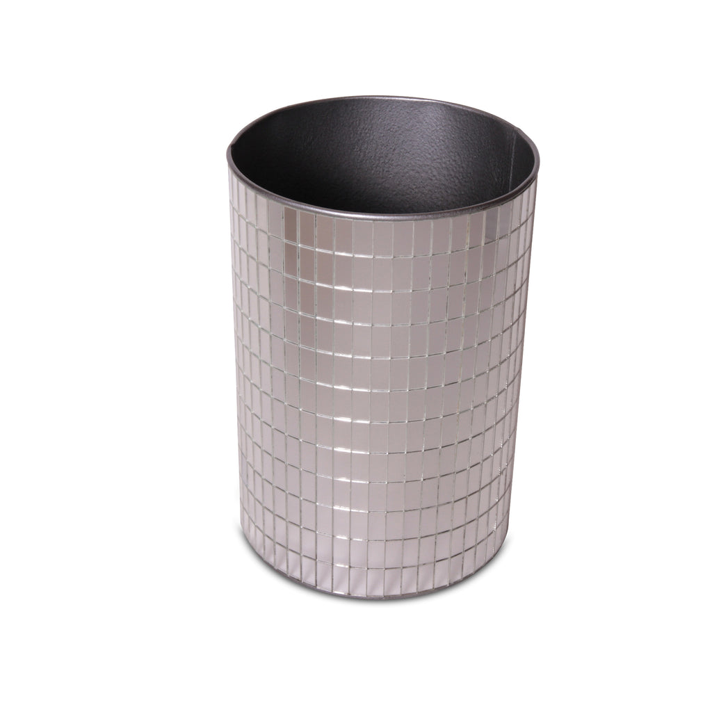 "Mirrored ""Disco"" Wastebasket"
