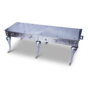 Stainless Steel Industrial Cocktail Table