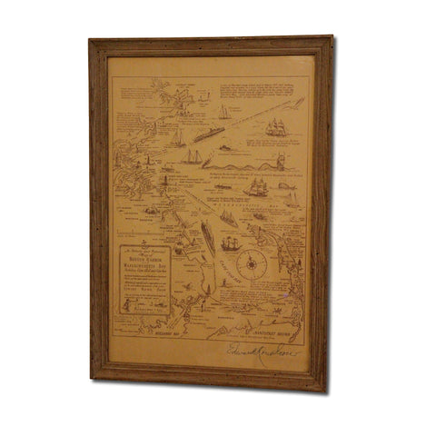 Vintage Nautical Map of Cape Cod