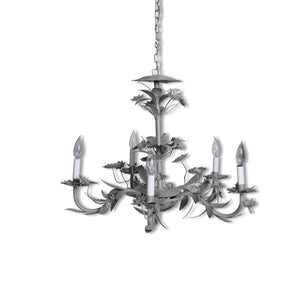 champagne floral chandelier
