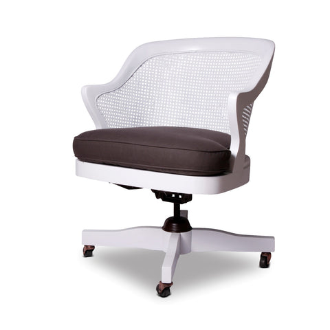 White Cane Office Chair