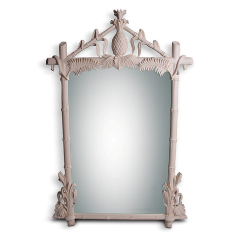 White Gampel-Stoll  Hollywood Regency Mirror