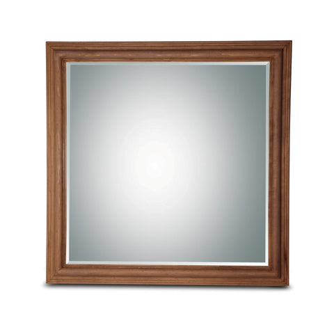 Wood Square Mirror