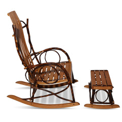 Amish Bentwood Rocker and Footstool