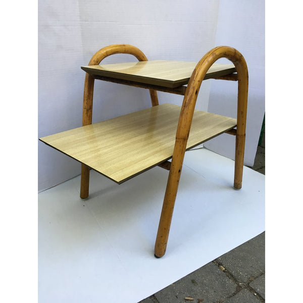 j.b. Van Sciver Co. Rattan End Table