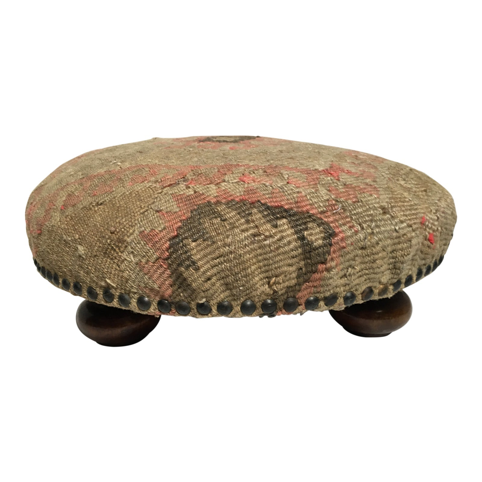 Vintage Turkish Kilem Footstool