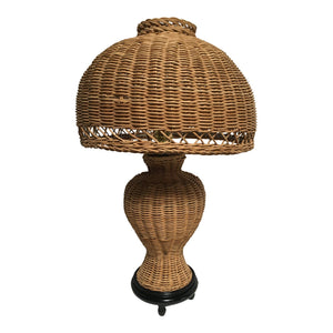 Vintage Wicker Table Lamp