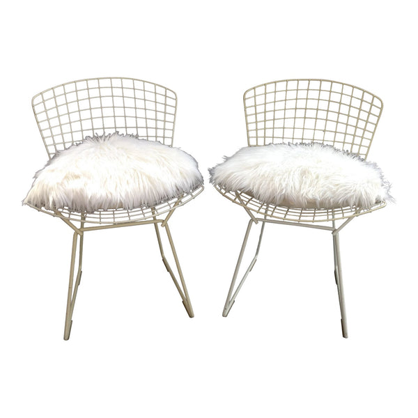 Vintage Wire Chairs - a Pair