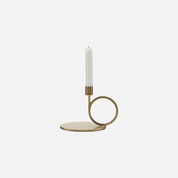 Brass finish Candle Stand