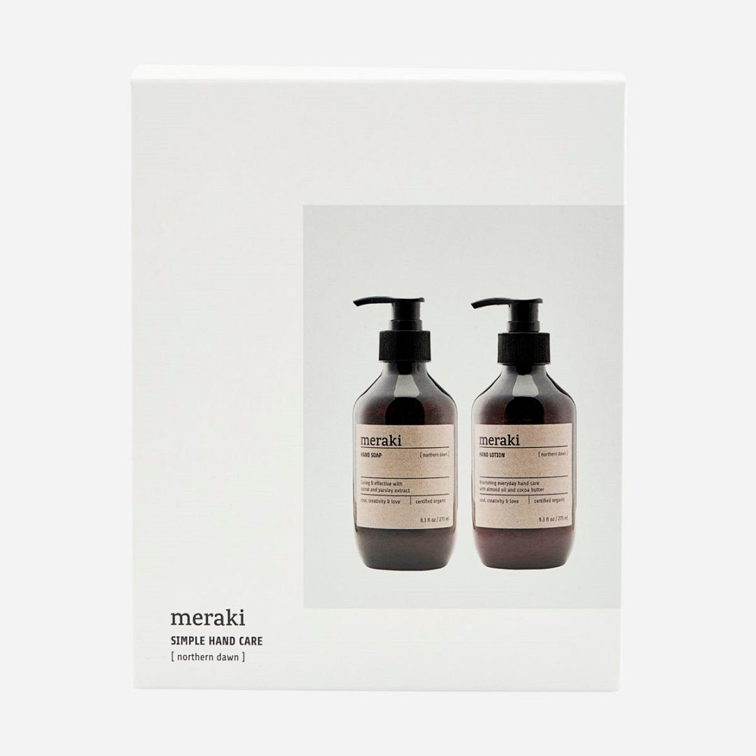 Meraki Giftbox, Northern Dawn Organic Hand Soap & Cream