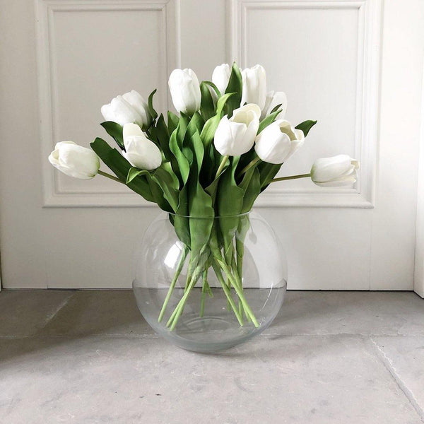 White Short Open Tulips - The Irish Country Home