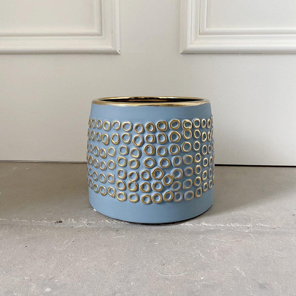 Blue & Gold Planter