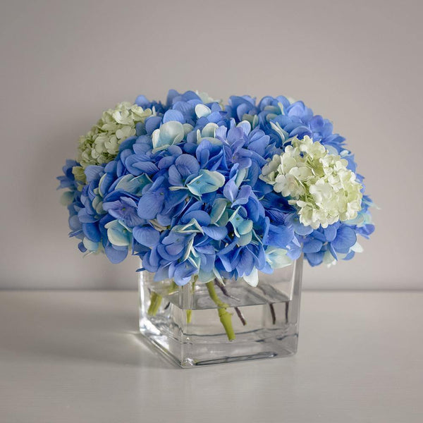 Blue Hydrangea Artificial Flower Arrangement