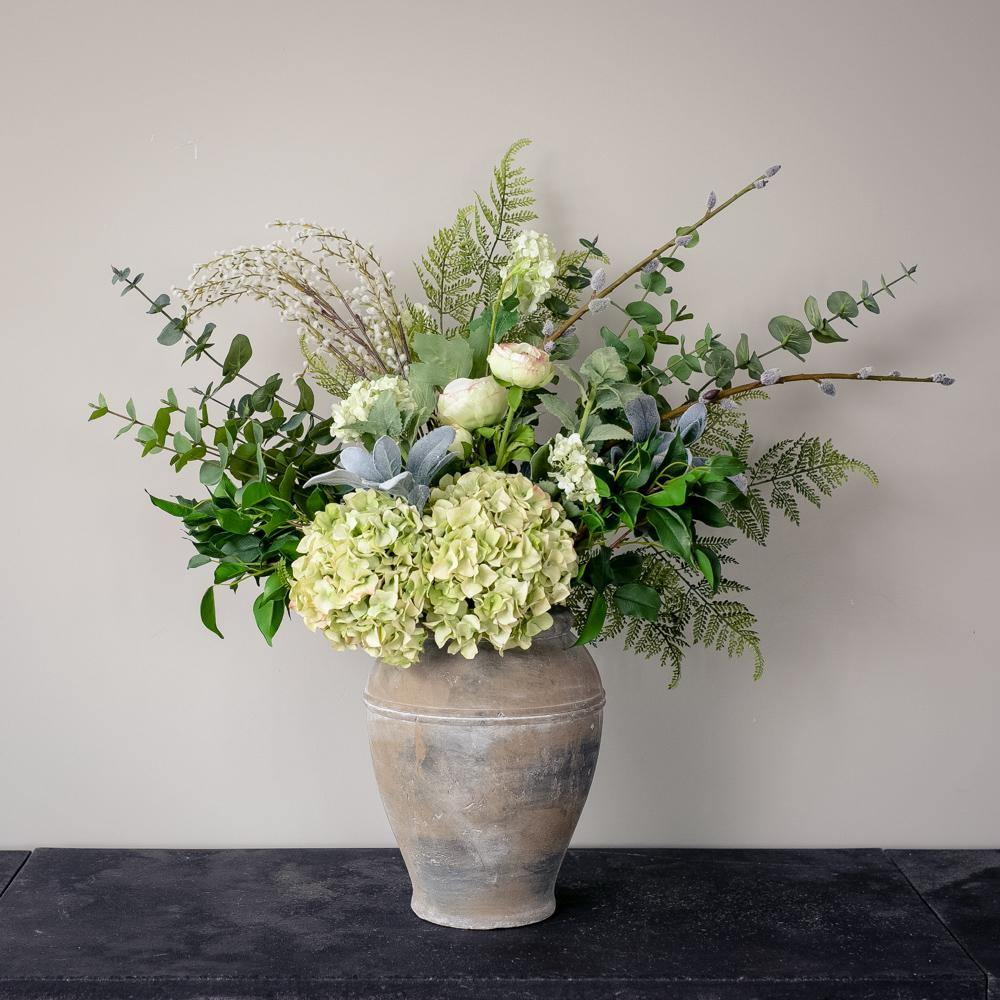 Foraged Greens  Artificial Flower Arrangement