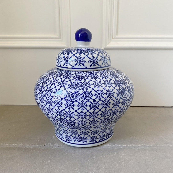 Blue & White Porcelain Jar 22cm