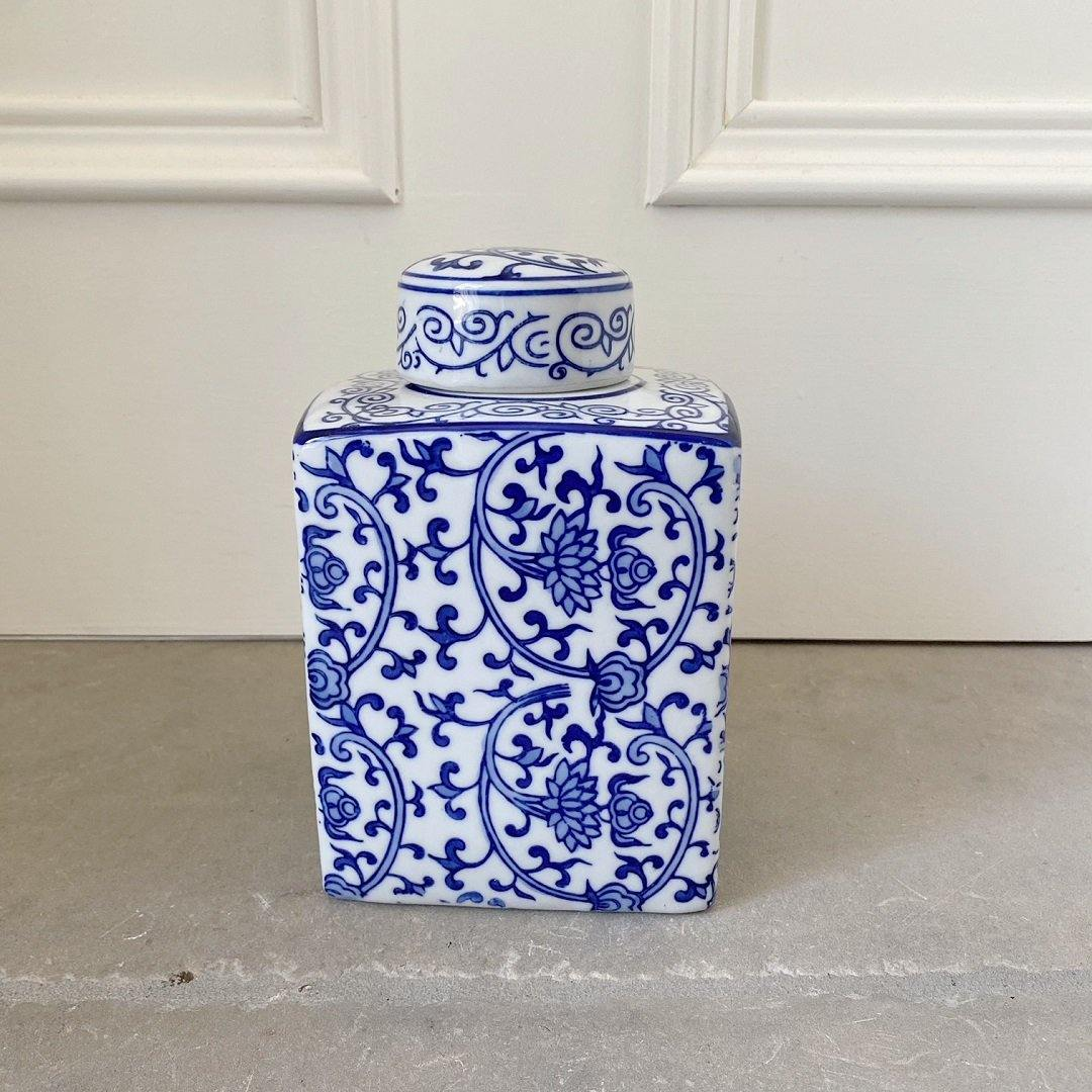 Blue & White Porcelain Jar 17cm