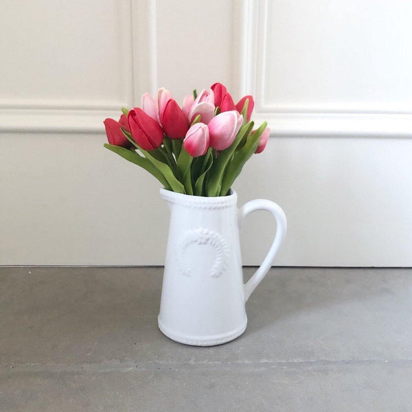 Terrific Tulips in Ceramic Jug vase - The Irish Country Home