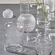 Clear Glass Bubbled Vase