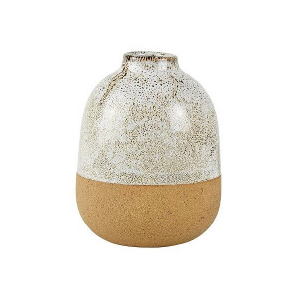 Offwhite/Natural Ceramic Vase