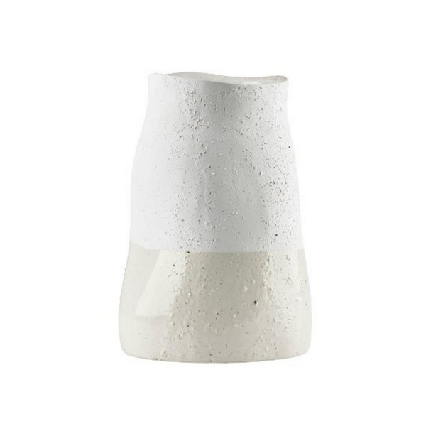 Textured White Ceramic Vase