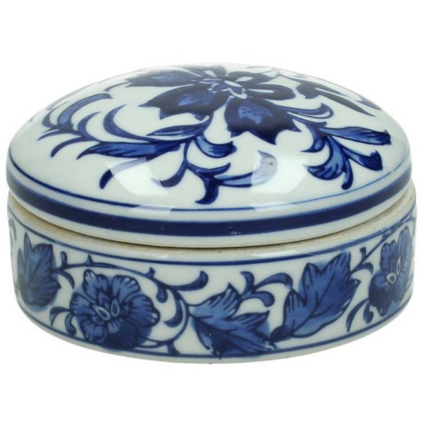 Blue Porcelain Decorative Box - The Irish Country Home