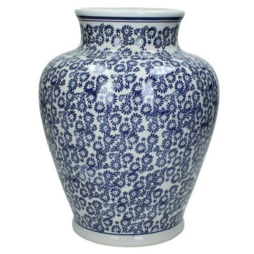 Blue & White Porcelain Vase 28cm
