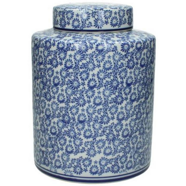 Blue & White Porcelain Jar 24cm - The Irish Country Home