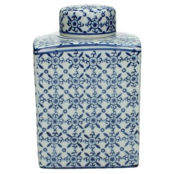 Blue Porcelain Jar 17cm - The Irish Country Home