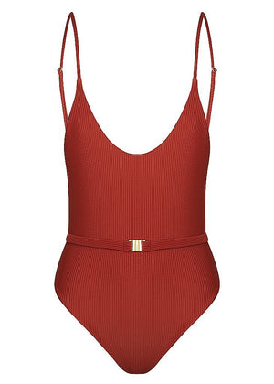 Grés Belted One Piece Swimwear Mimi Kini