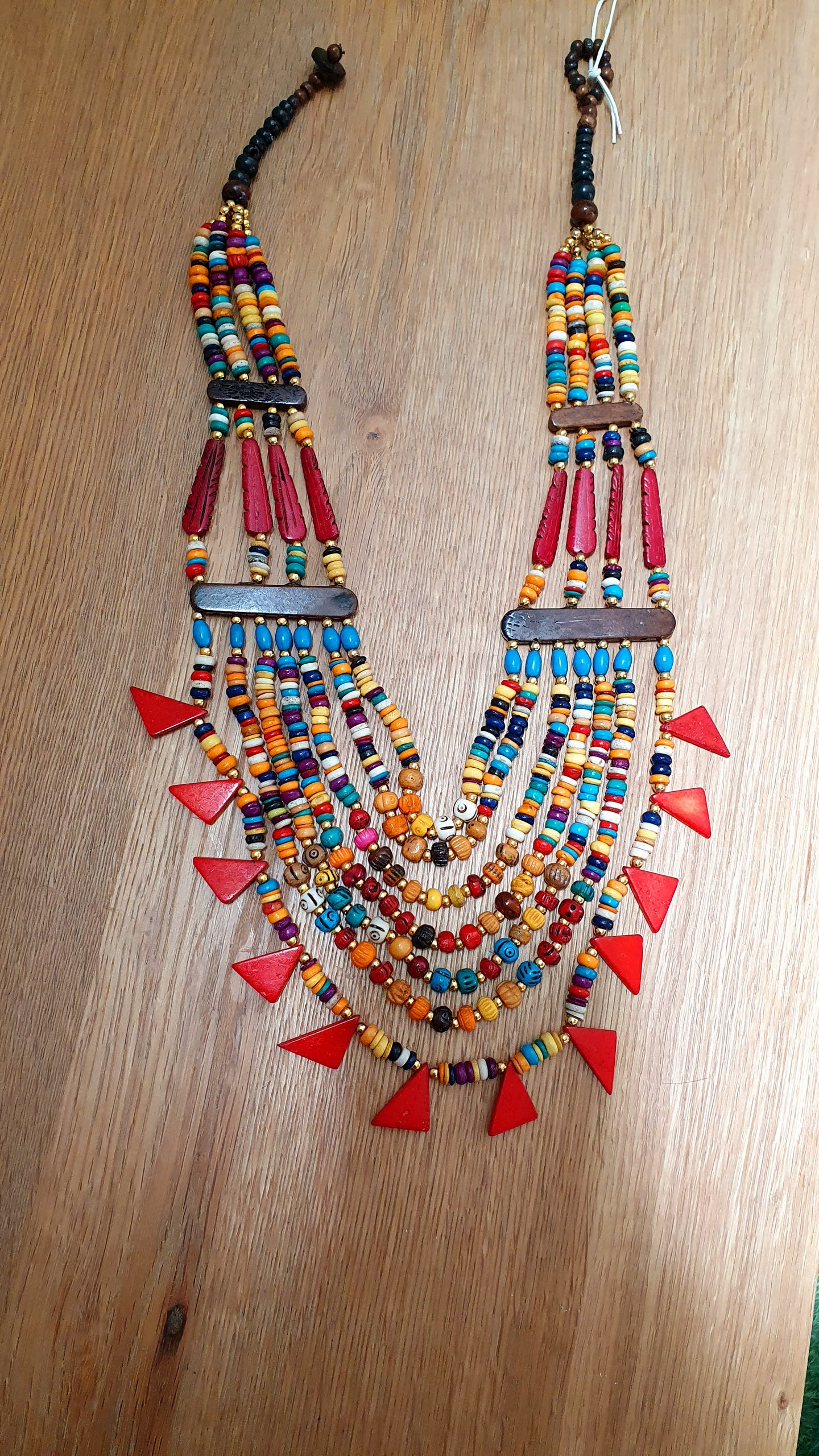 Large statement Beaded Necklace