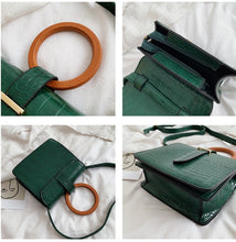 Load image into Gallery viewer, Wooden hoop handle handbag