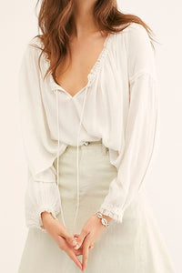 Free People Banda Blouse (Ivory)