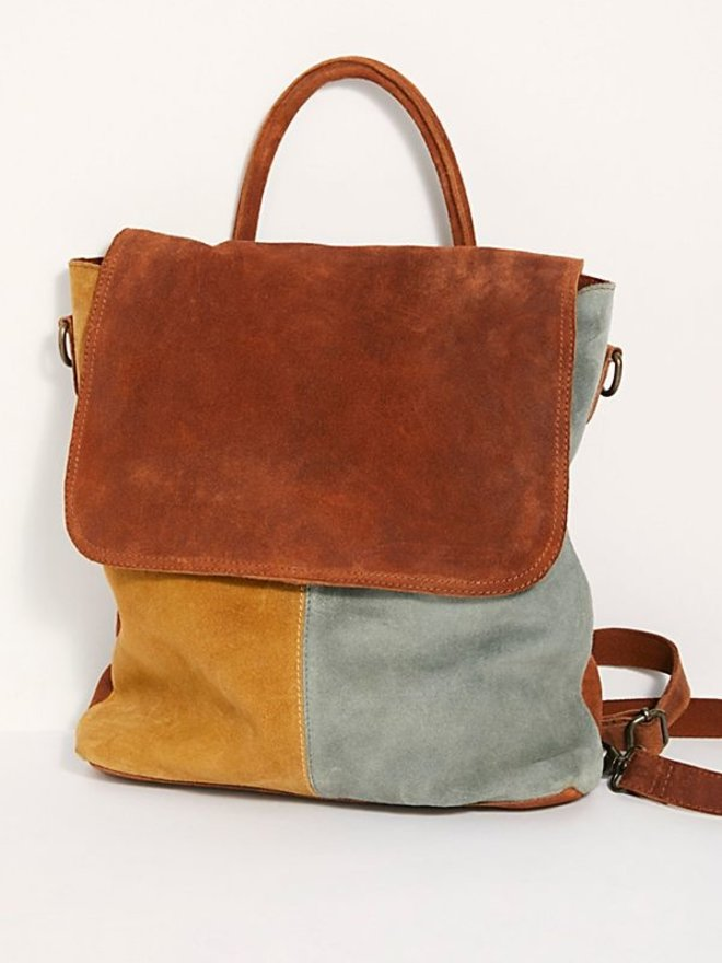 Free People WTF Paris Backbag (sunset patchwork combo)