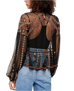 Free People Give a little Mesh Top