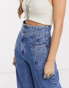 Free People Midnight City Wide Leg Jeans