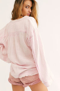 Free People Anguilla Washed Pullover