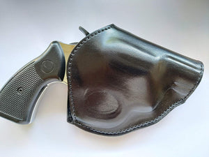 Cal38 Leather Two Position Belt open top Holster for Rock Island Armory 38 Special Snub Nose