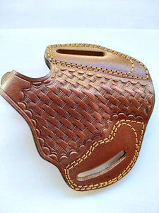 Leather Basket Weave owb Holster for Taurus 85 Ultralite 38special (R.H)