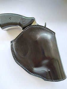 Handcrafted Leather Two Position Belt Open Top Holster for Colt 38 special Snub Nose