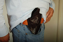 Load image into Gallery viewer, Leather Belt owb Holster For Ruger GP100 357 MAG Revolver  3inch Barrel