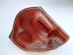 Cal38 Leather Two Position Belt Holster for Smith and Wesson 38 special Snub Nose