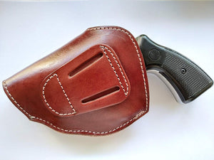 Cal38 Leather Two Position Belt open top Holster for Ruger  38 Special Snub Nose