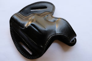 Cal38 | Leather Belt owb Holster For Smith and Wesson Model 10 Snub Nose 38 Special