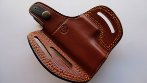 Glock 43 Leather Belt owb Holster