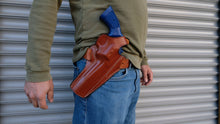 "Load image into Gallery viewer,  Cal38 Leather Belt owb Holster for Colt Python 357 Mag 6"" Barrel"